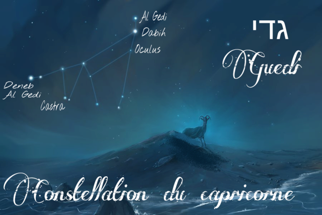 Constellations du zodiaque Biblique  Mazzaroth en Hébreu Capric10