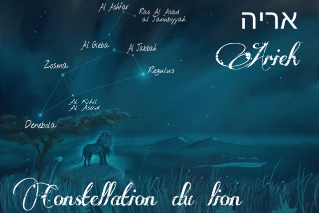 Constellations du zodiaque Biblique  Mazzaroth en Hébreu Lion10