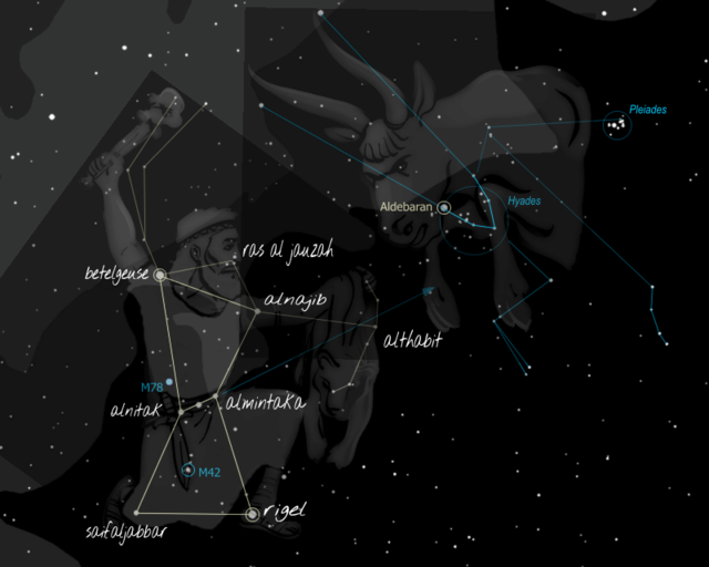 Constellations du zodiaque Biblique  Mazzaroth en Hébreu Orion11