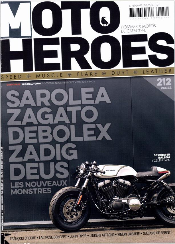 Un Sportster cafra qui a de la gueule dans moto Heroes.... Mot10