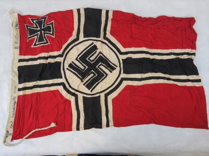 drapeau allemand WW2 daté 1942 Kriegs11