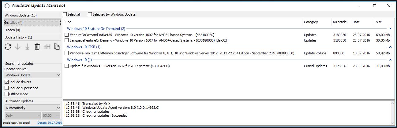 Windows10 - 26 Tools Update10