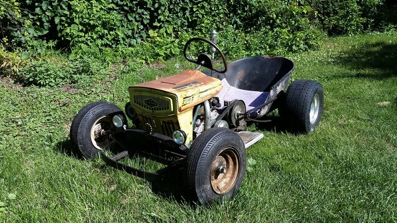 Doc's Diesel Weasel Mini Ratrod Mow-Kart! [2016 Build-Off Winner]  20160912