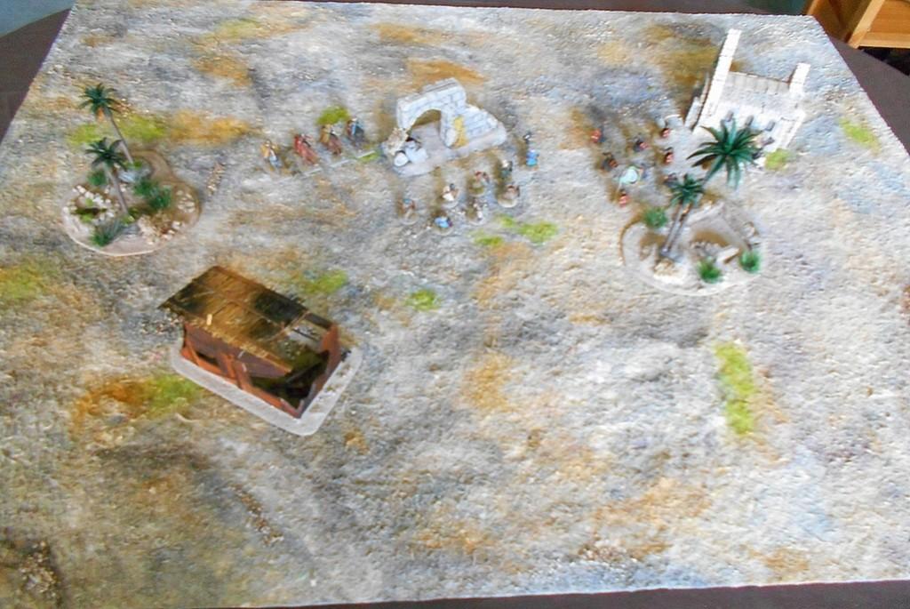 Spielmatte auf Malervlies Wueste10