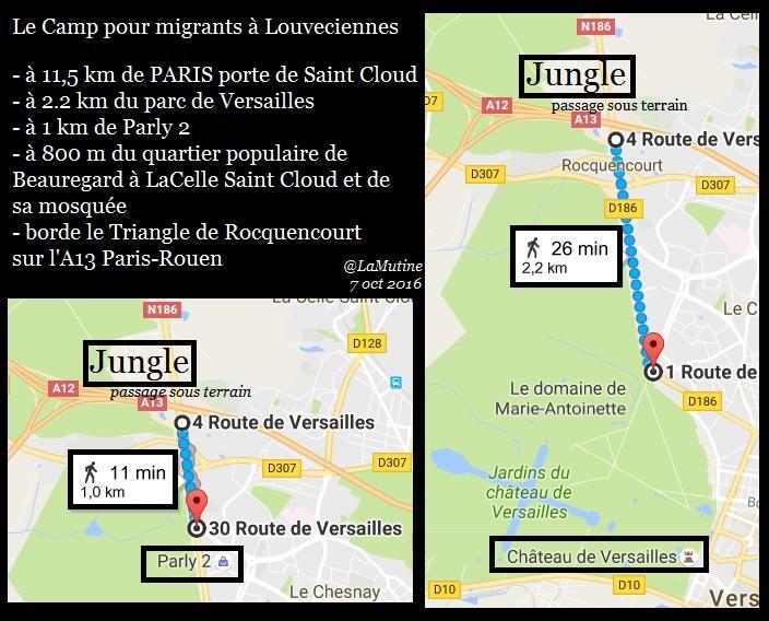 C'est très drôle une jungle à migrants dans un village gaulois à 11 km Paris, à moins que…  Louvec13