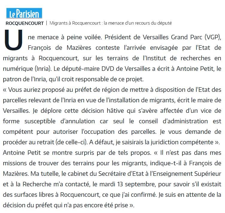 Site de l'INRIA à Rocquencourt - Antoine Petit PDG Louvec24