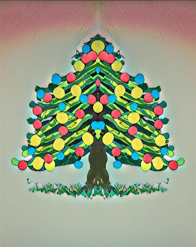 Auguri di Buon Natale e di Buon Anno Nuovo Albero10