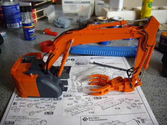 Hitachi Doppel-Arm-Arbeitsmaschine, Hasegawa 1:35 02710