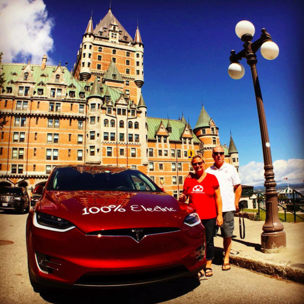 Couple charged up for Tesla-powered cross-country tour Tmp_1010