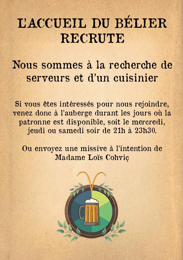 Annonces de l'Accueil du Bélier Affich10