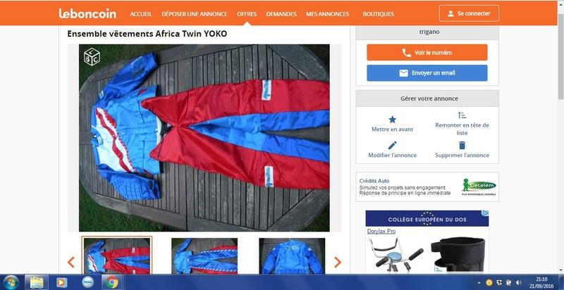 Tenue Africa Twin 1990 sur Le Bon Coin Lebono10