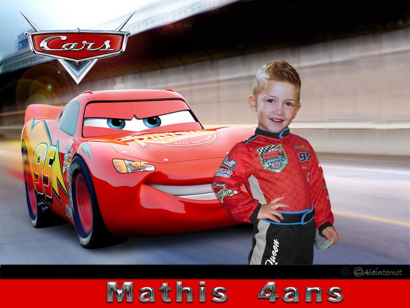 Montage Anniversaire de Mon neveux Mathis pour ses 4 ans  Cars2111