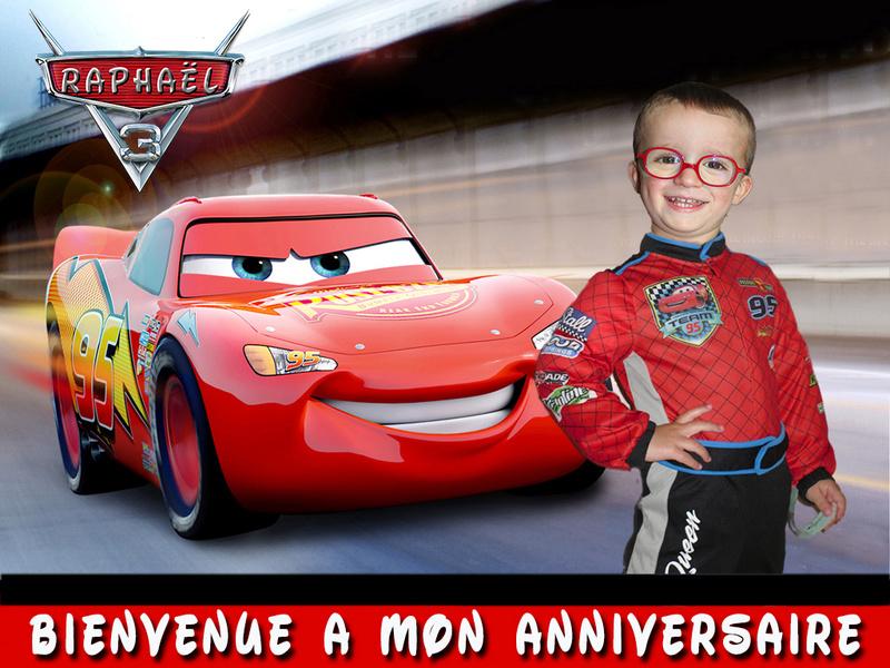 montage anniversaire raphaël  Cars2112