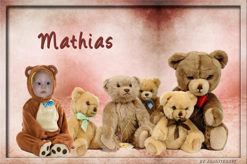 Montage de mon filleule Mathias  Pour ses 8 mois  vendredi Naamlo11