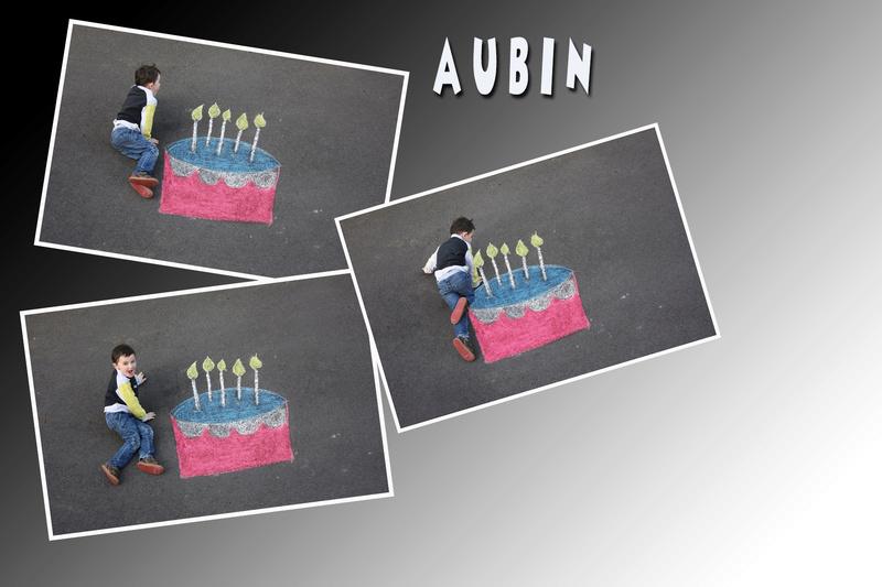 montage anniversaire gâteau à la craie. Sans_101