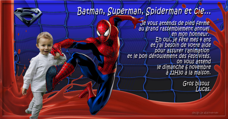 carte invitation spiderman Spider10