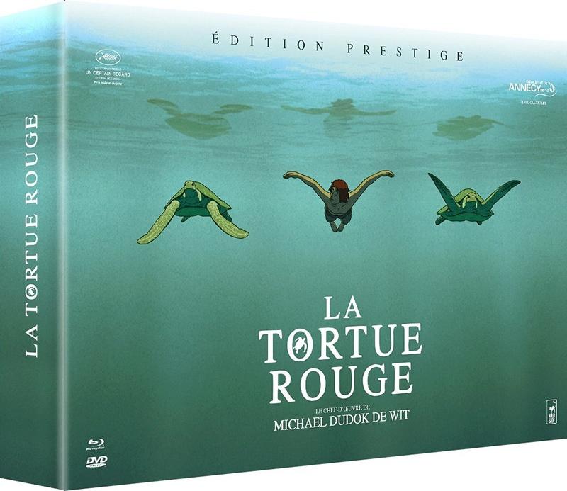 La Tortue rouge [Coffret Prestige - Blu-ray + DVD + Art Book + CD bande original 714f-g10