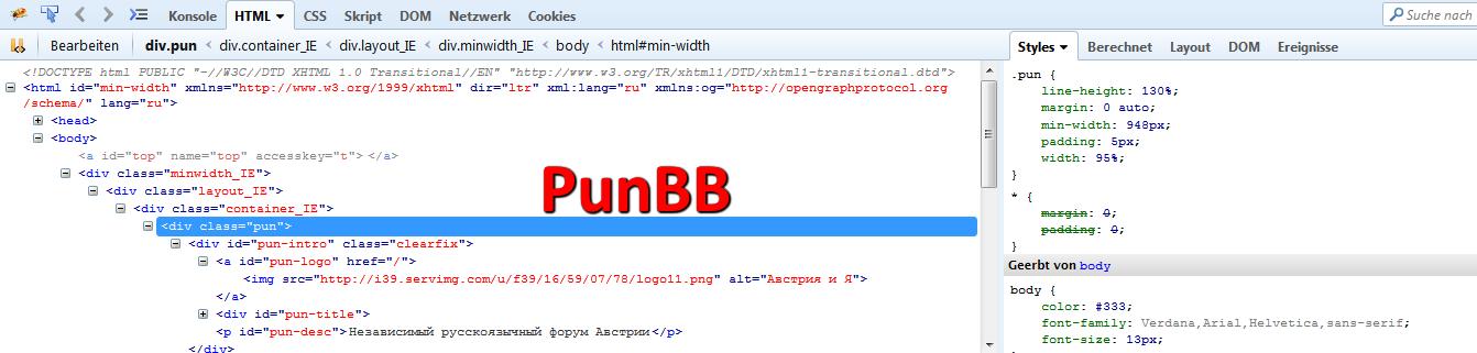 Version eines anderen Forums herausfinden 01-pun10