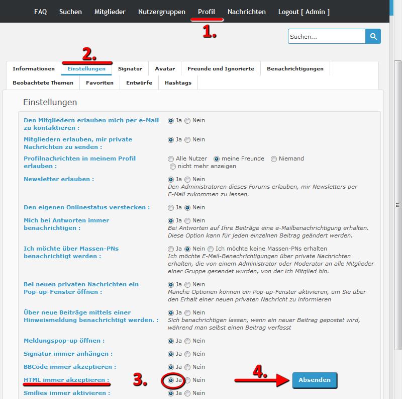 HTML aktivieren Html-a11