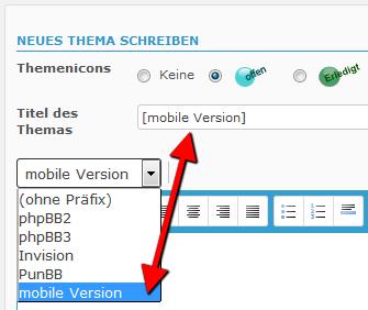 [Mitteilung] Neues Theme der mobilen Version Mobile10