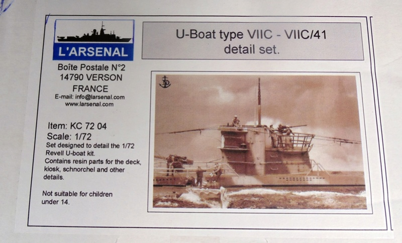 U boat type VII c 41 version atlantique 1/72 revell Dsc03239