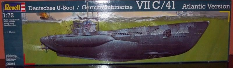 U boat type VII c 41 version atlantique 1/72 revell Revell10