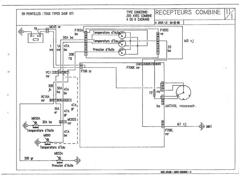correspondances des fils sur prises habitacle 1989_112
