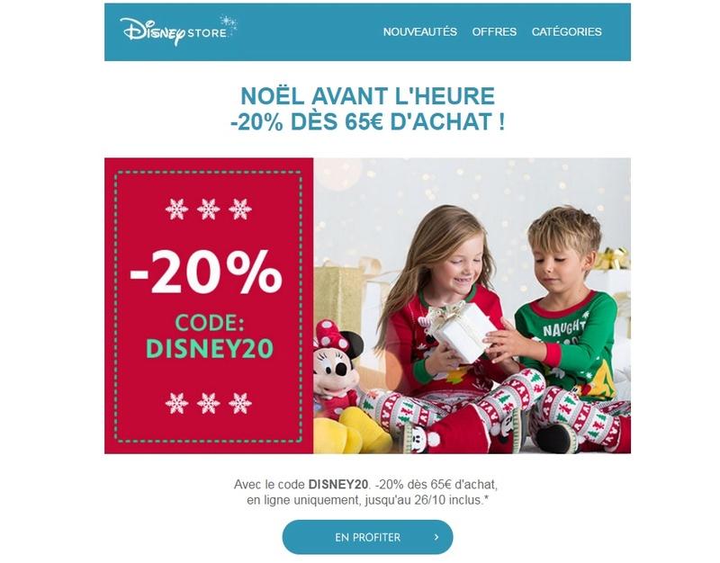 Les promotions et codes de réduction sur Disney Store FR - Page 19 Disney10