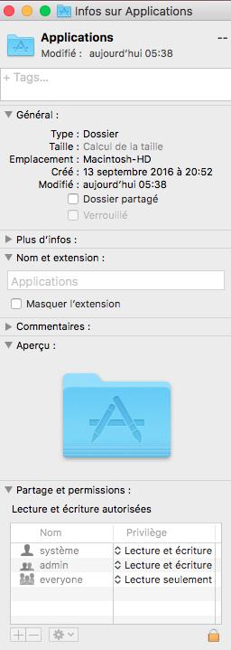 Demande de mot de passe à chaque copie d'un .app dans /Applications/ Captur45