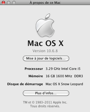 Dell Optiplex 790 macOS High Siera / (Fonctionne 10.6 A 10.13) Sansti10