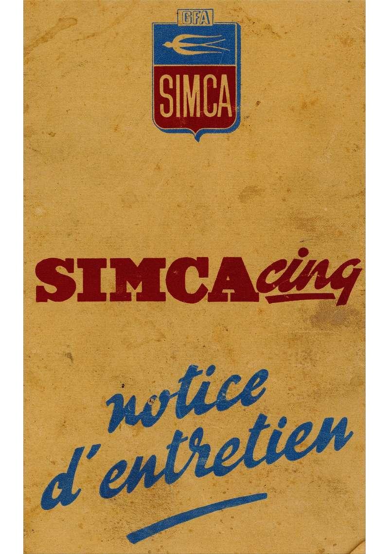 Restauration d'une Simca 5 Topolino Notice11