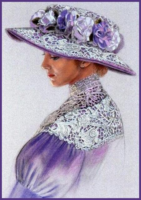 """Des élégantes  """"chapeautées"""" ... - Page 6 Chap_o13"""