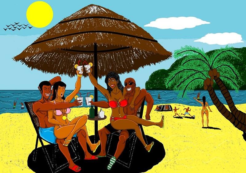"""Illustrations ... pour l'été ... Plage et """"farniente"""" ... - Page 4 Farm_010"""