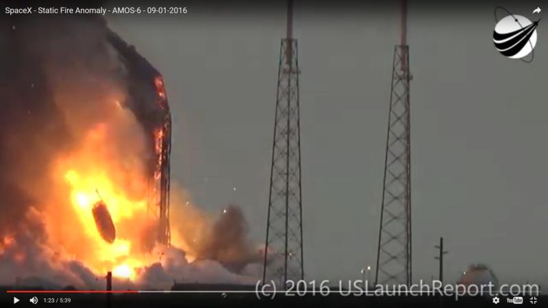 Falcon 9 esplode a Cape Canaveral durante un test statico Screen10