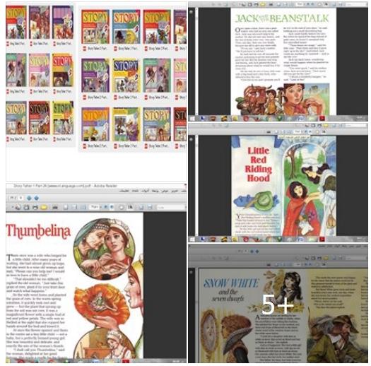كورس رائع جدا باللهجة البريطانية - اسمهStory Teller - يتكون من 75 كتاب للقصص المصورة باللغة الانجليزية + بالاضافة للاسطوانات الصوتيةAudio Cd للاستماع لاحداث القصص بالصوت 552210