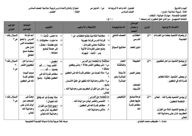 تحضير تربية اسلامية للصف السادس الابتدائي A_a_oo10