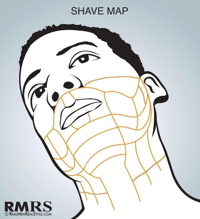 Le chemin du poil (Beard Map ou face mapping) pour apprendre à se raser dans le bons sens ! Beard_10