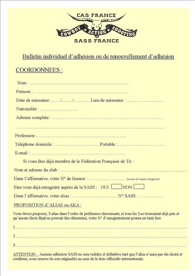 INSCRIPTION SASS - CAS France Insrip24