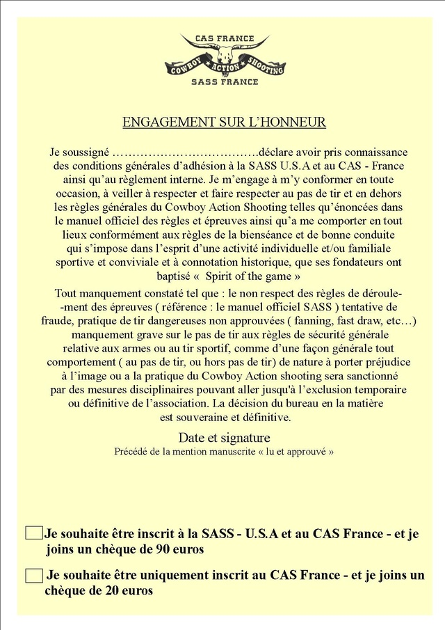 INSCRIPTION SASS - CAS France Insrip25