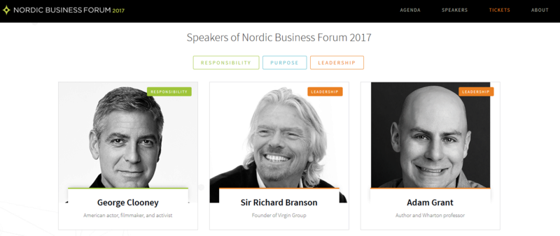 George Clooney to Attend Nordic Business Forum 2017 Helsinki, Finland October 3rd 2017 Nbforu13
