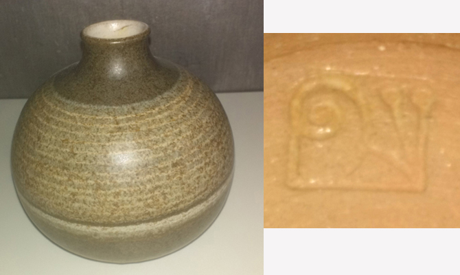 Studio Pottery Vase, Snail mark - Joan Carrillo, Spain  Escar_11
