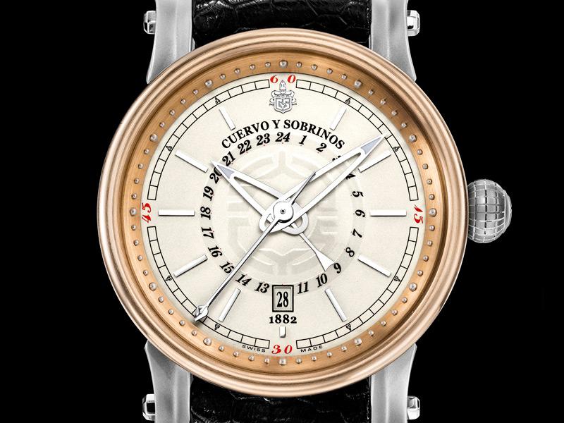 vacheron - News: Cuervo Y Sobrinos Torpedo Caribeno Pirata GMT Cuervo13