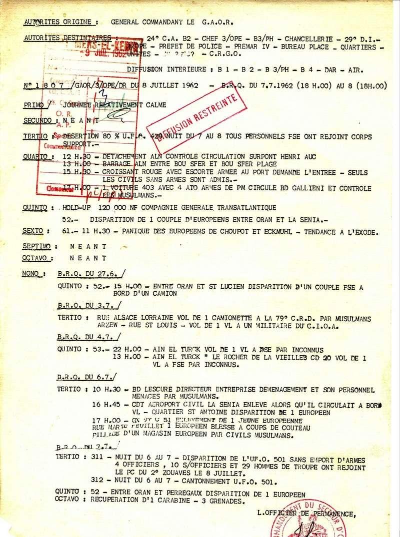 rapports militaire 1962 D10