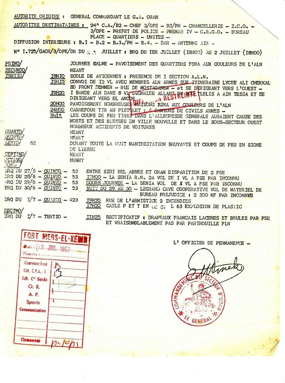 rapports militaire 1962 E10