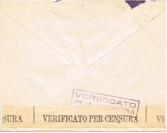 La censure italienne d'occupation en France avant l'invasion de la zone libre : MENTON ou MILAN Ccf14113
