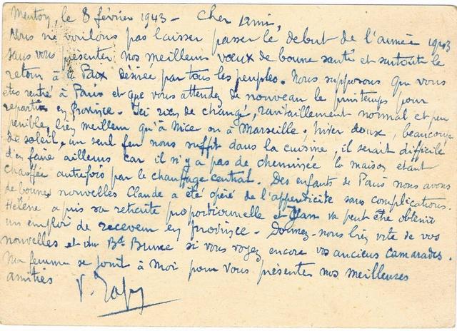 La censure italienne d'occupation en France avant l'invasion de la zone libre : MENTON ou MILAN Ccf18112