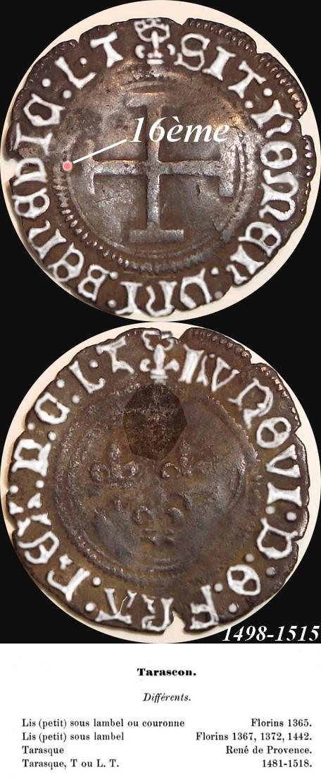 QUIZ ! ... Qui suis-je ? ... Rarissime double tournois de Louis XII frappé à Tarascon Ludovi10