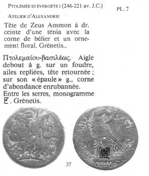 """Bronze pour Ptolémée III """"Évergète"""" ... Ptolem10"""