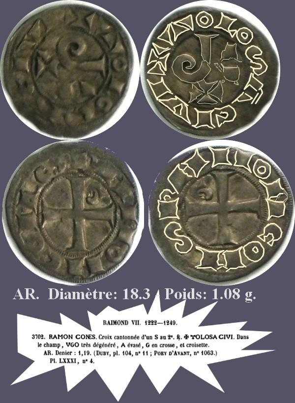 RAYMOND VII comte de Toulouse Denier Raymon10