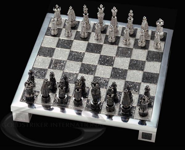 Royal Diamond Chess Set (9900 diamonds) Chess-10